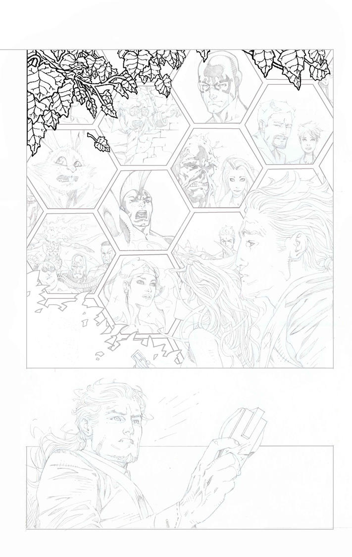 SUPERGIRL pencils pg 04 by timothygreenII