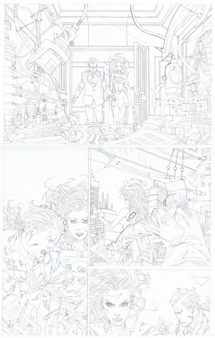 SUPERGIRL pencils pg 06 by timothygreenII