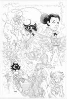 Teen Titans Adult Coloring Book by timothygreenII