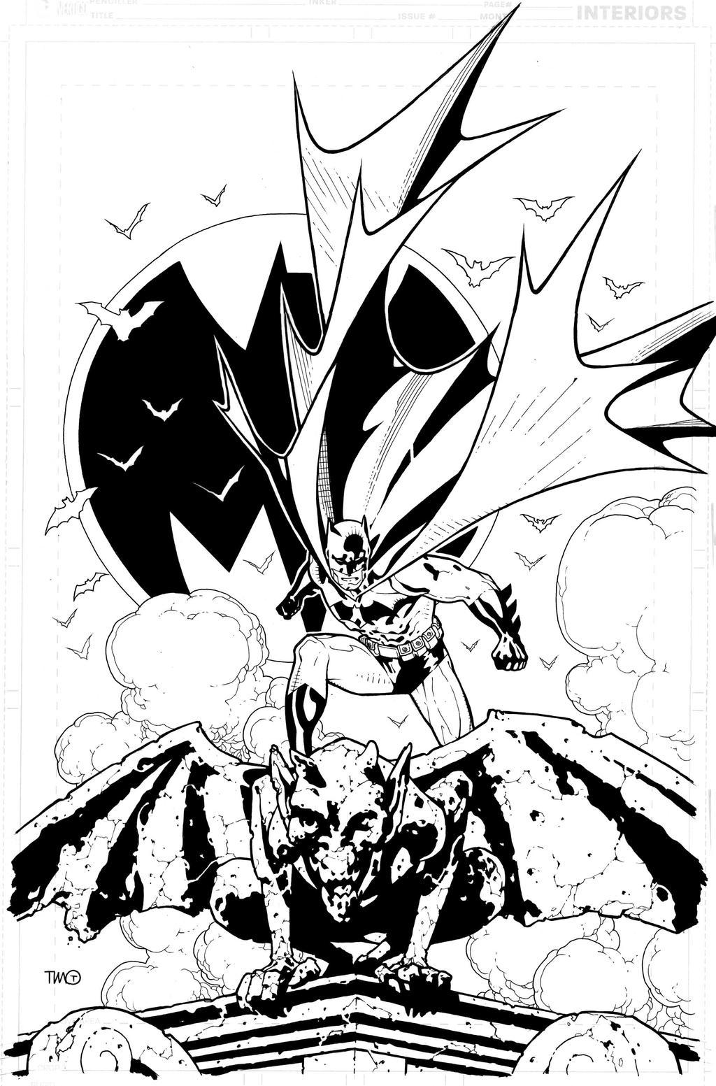 batman commission inks by timothygreenII