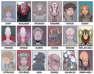 DELOS characters sheet
