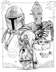 The Mandalorian inks commission by timothygreenII