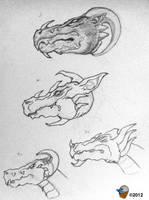 Megahorn Dragon Head Study by Ant-artistik