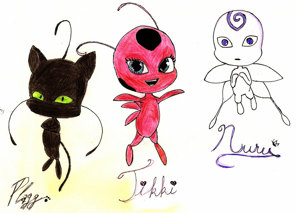 Kwami Coloring Pages Miraculous Ladybug