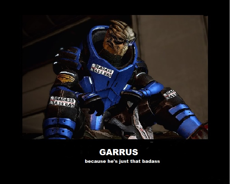 Motivational poster GARRUS by bubblyface1