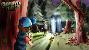Gravity Falls x Doctor who by VintageEcho