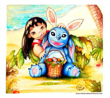 Lilo and Stitch: Happy Easter by Rilans-Fluff