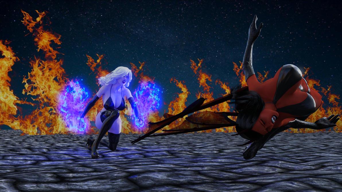 Lady Death and Purgatori 11a by eliasw84