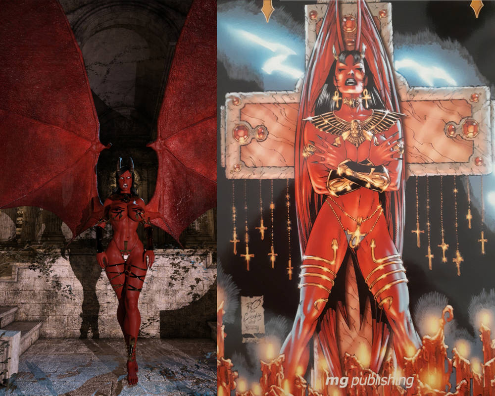 Chaos! Comics Purgatori 1390 BC 3d vs  original by eliasw84 on