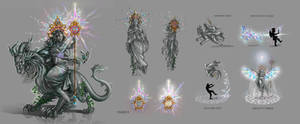 'Temple Keeper' Statue Awilix + Gargoyle Suku