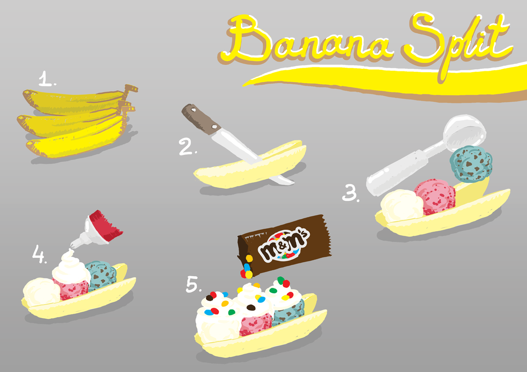 Not so Traditional Banana Split by vo-qw