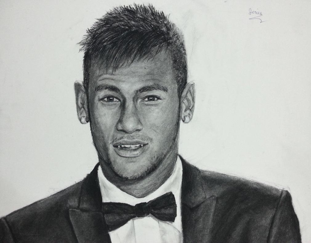 How to draw a neymar jr