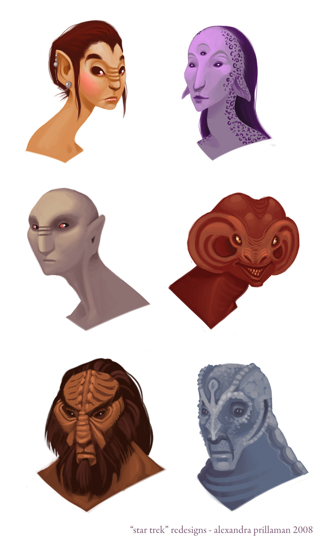 Star Trek redesigns by thundercake