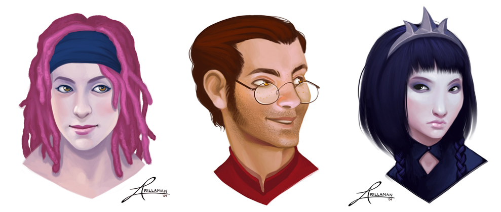 NPC portraits by thundercake