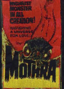 Mothra - cross-stitch