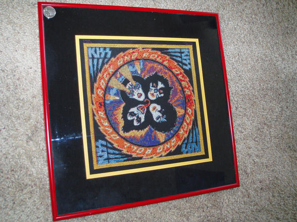 KISS - cross-stitch