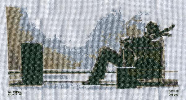 Blown Away - cross stitch.