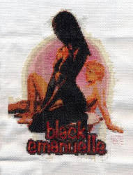 Black Emanuelle - cross stitch