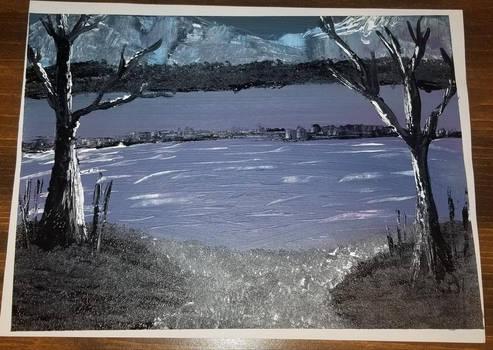 By the Dark Lake | Acrylic