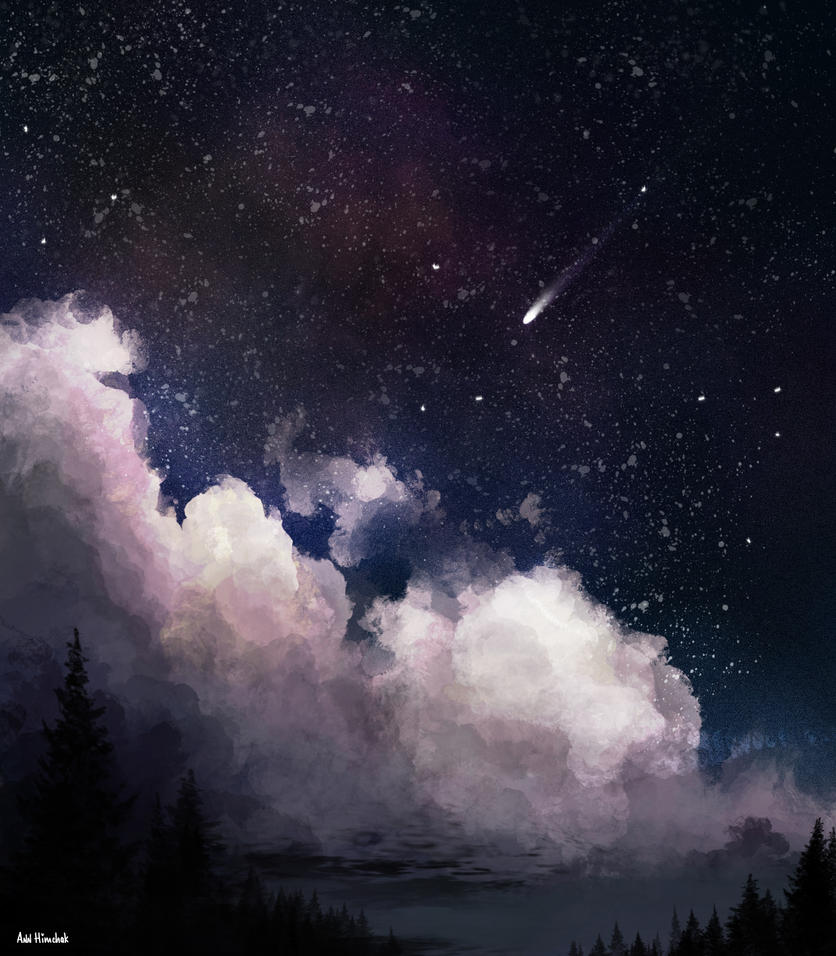 Night sky by AnnHimchak