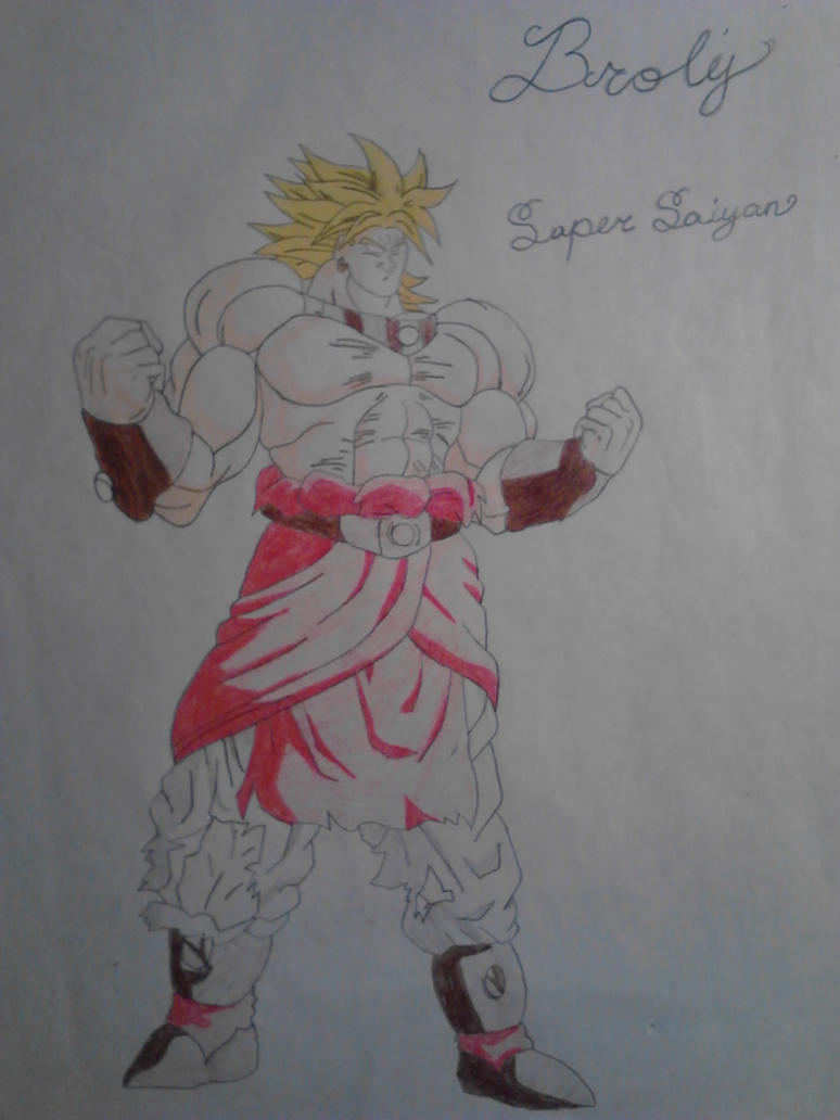 Legendary Super Saiyan Broly Drawing By Strikerwest