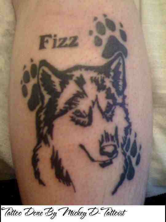 tribal husky fizz tattoo lower leg by mickeydtattooist on deviantart. Black Bedroom Furniture Sets. Home Design Ideas