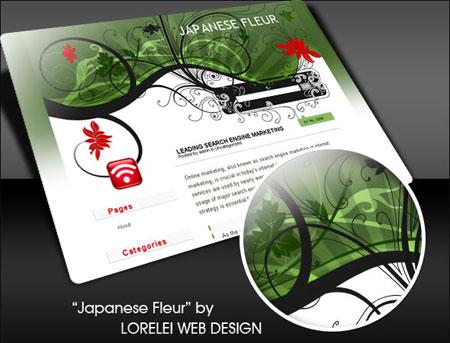 Japanese Fleur WP theme by Loreleike