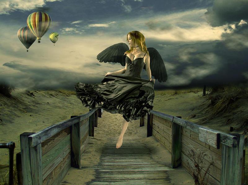 Fallen Angel's Dream Fly: Tut by Loreleike