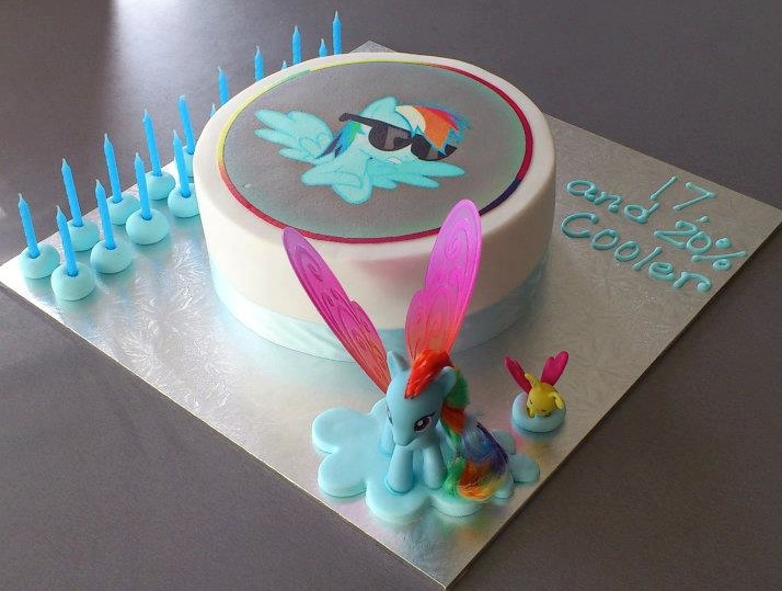 Rainbow dash pretty cake ideas and designs for Rainbow dash cake template