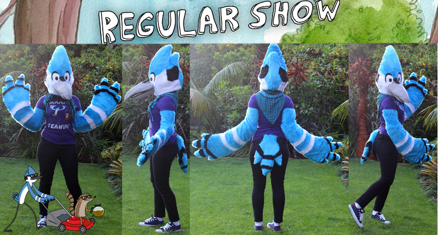 Regular Show: Mordecai Cosplay by XNeonFeather