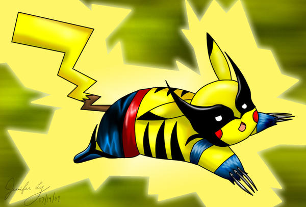 Wolverine Pikachu by Yutsuki-chan