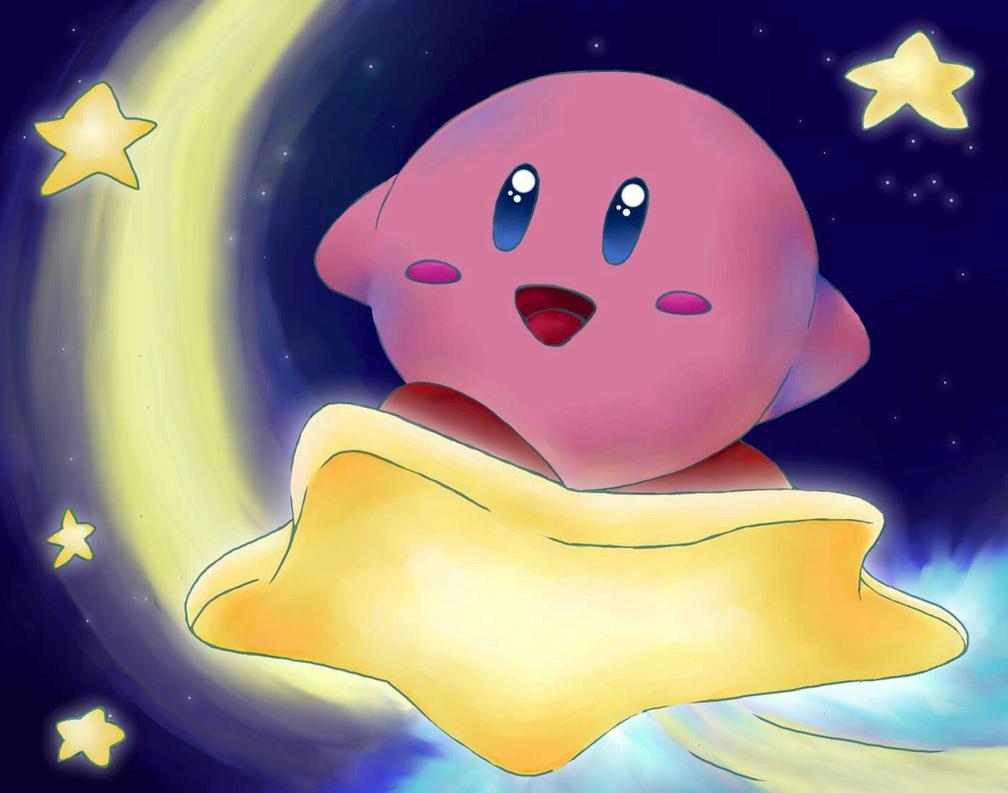Kirby Starry Surf by Yutsuki-chan