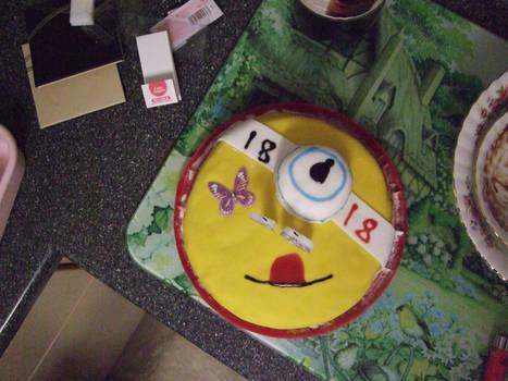 silly  minion cake