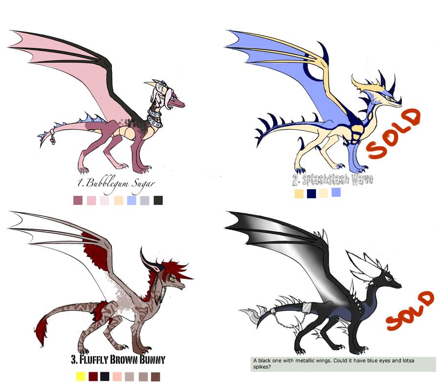 Closed Dragon Adoptables- Batch 2 by xX-CupcakeMarrow-Xx