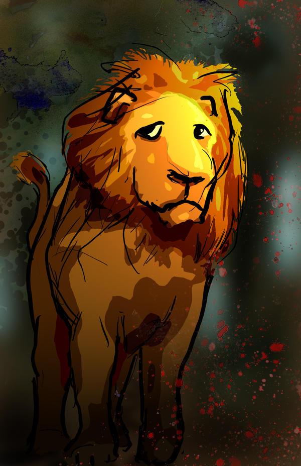 Il leone codardo su quot mio mago di oz