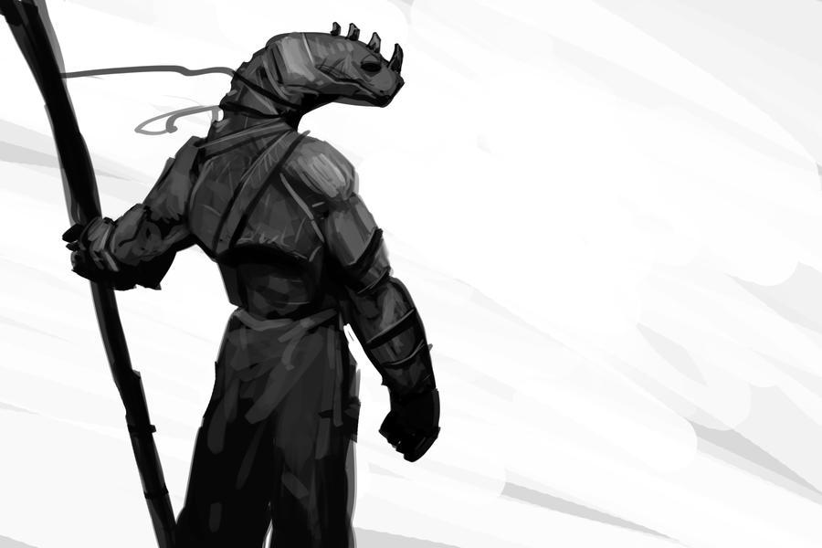Lizardman speedpaint by Balance-Sheet