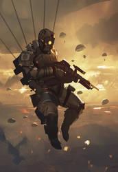 SpeedPaint_Paratrooper by Balance-Sheet