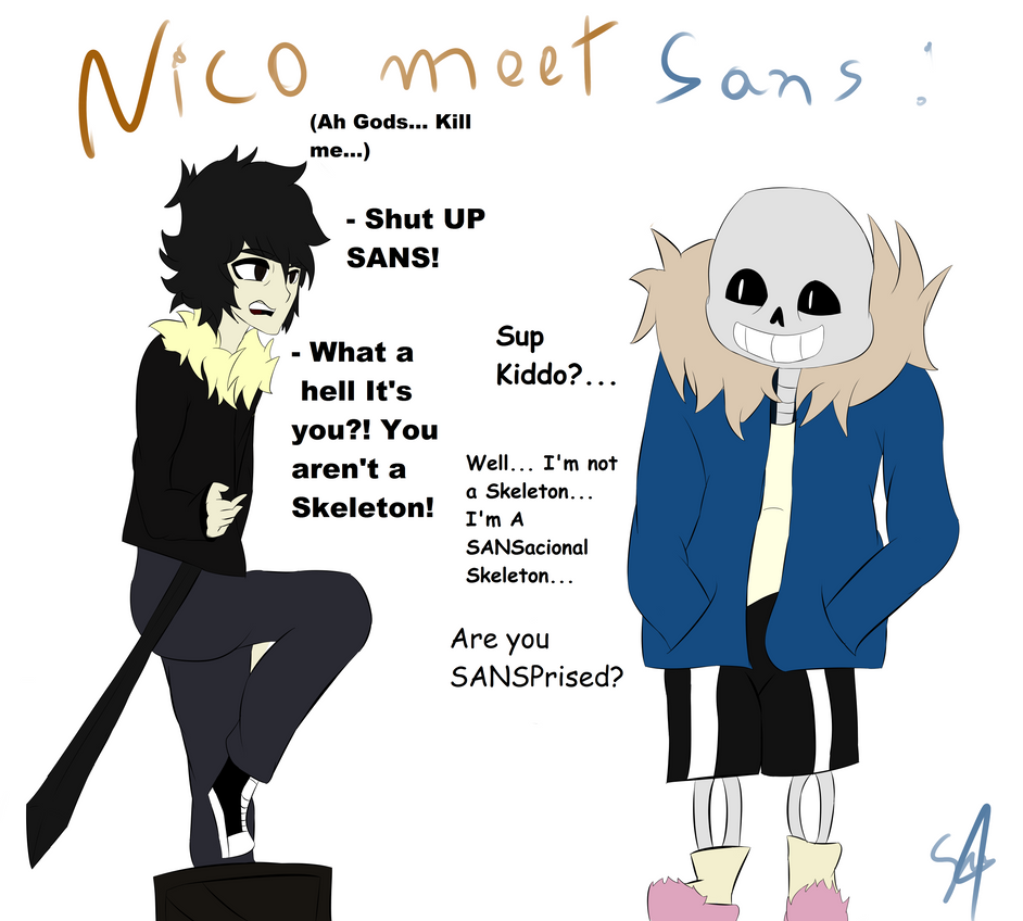 Sans And Nico By Baketpotato On Deviantart