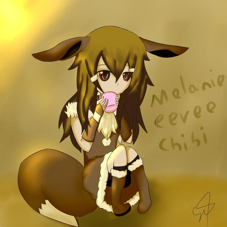 Melanie eevee chibi by BaketPotato