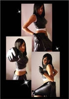 cosplay Tifa strikes back two by yuna-yume