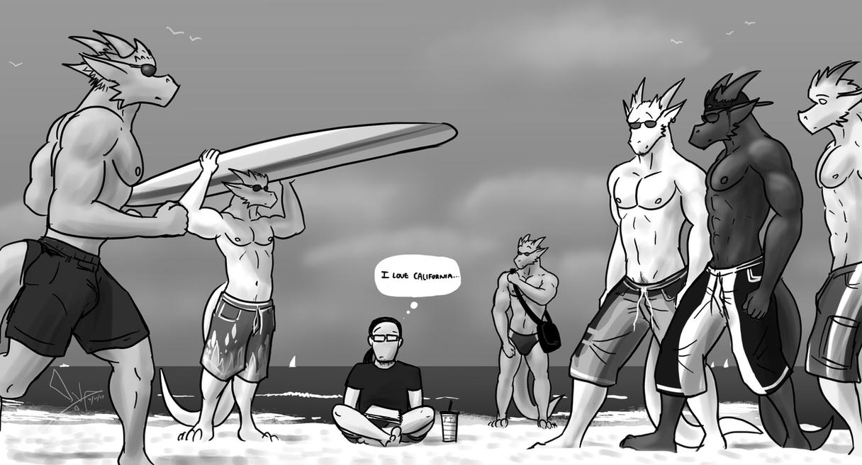 On The Beach by VonceDragon