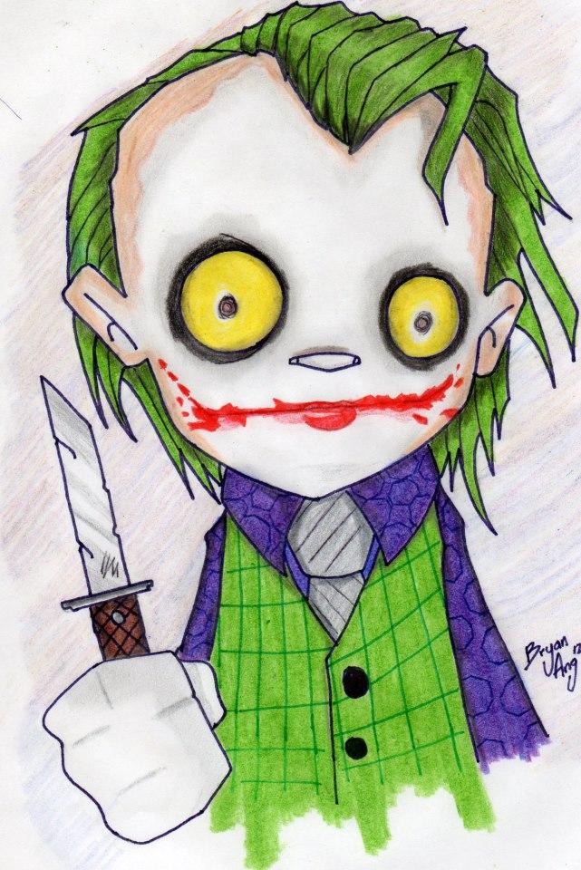 the joker cartoon smile