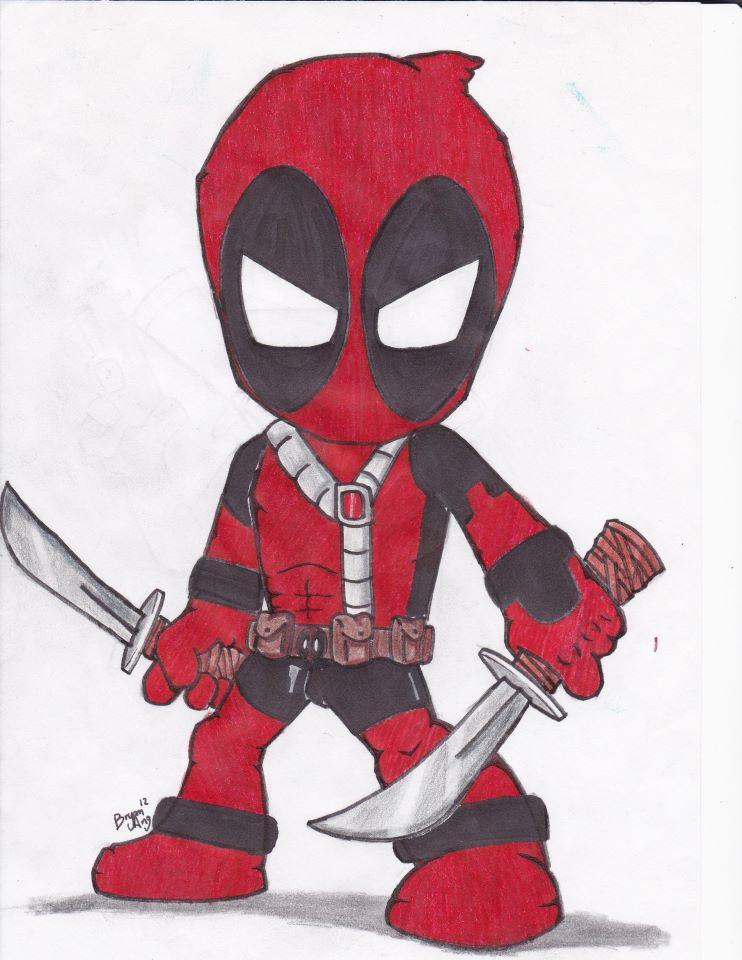 Chibi Deadpool Sketch ...