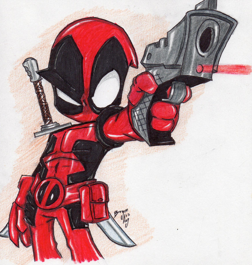 Captivating Chibi Deadpool By RichardHeavy ...