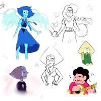 Steven Universe doodles by Starfall565