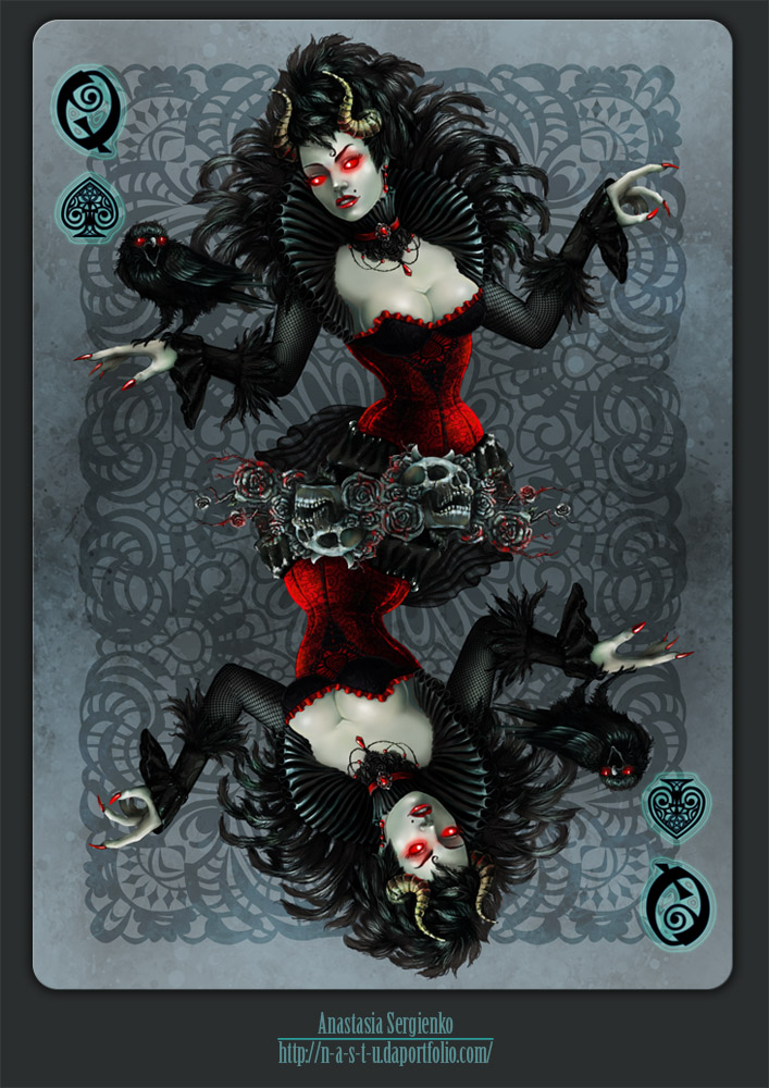 Queen of Spades by n-a-S-t-u