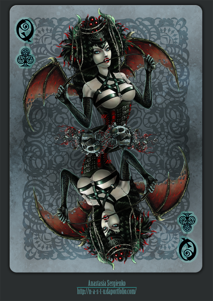 Queen of Clubs by n-a-S-t-u