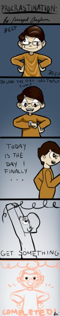 Procrastination Comic by Peaceful-Asylum