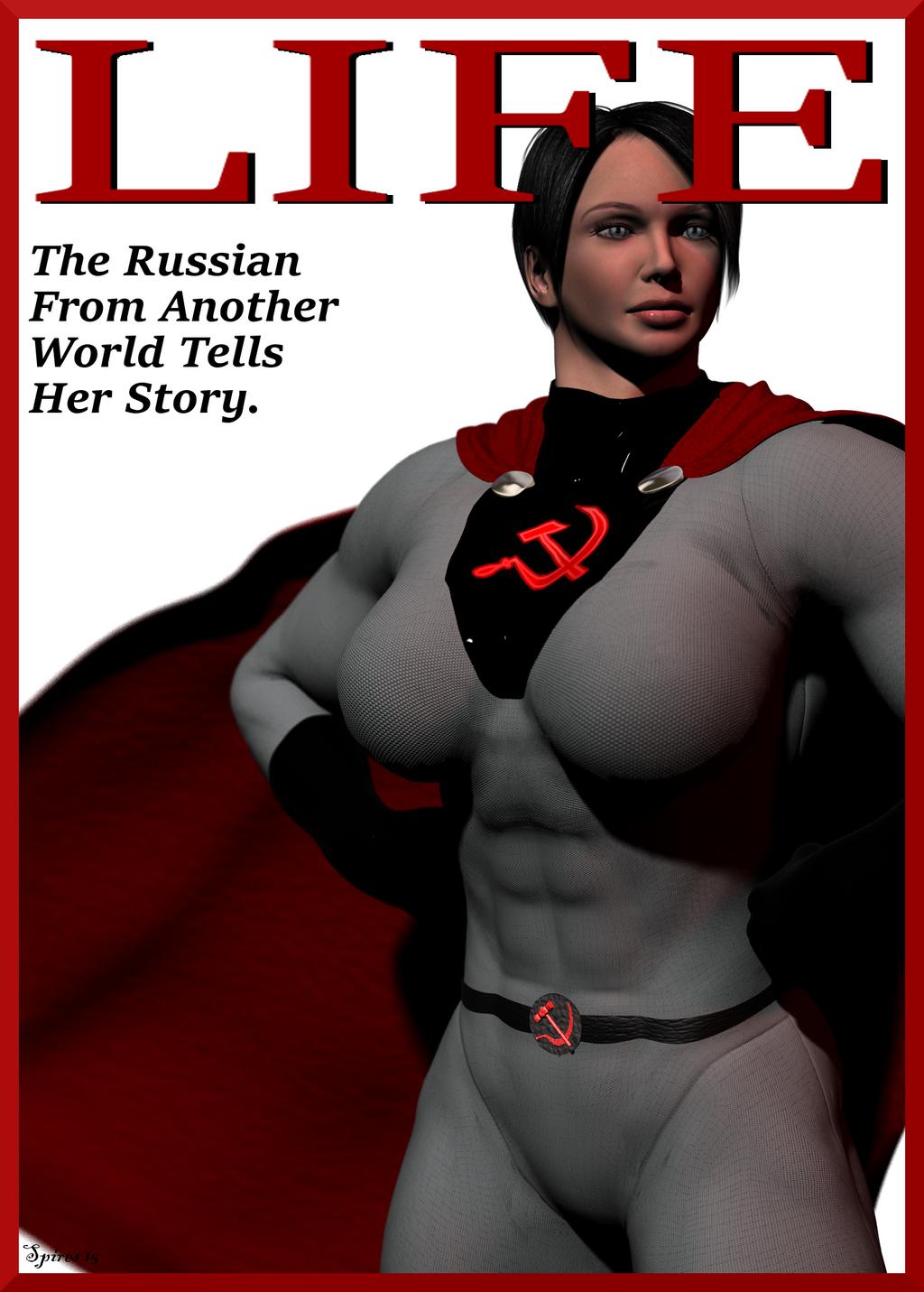 Soviet Superwoman: Life Mag by spiresrich on DeviantArt