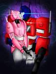 Commission - Optimus and Elita